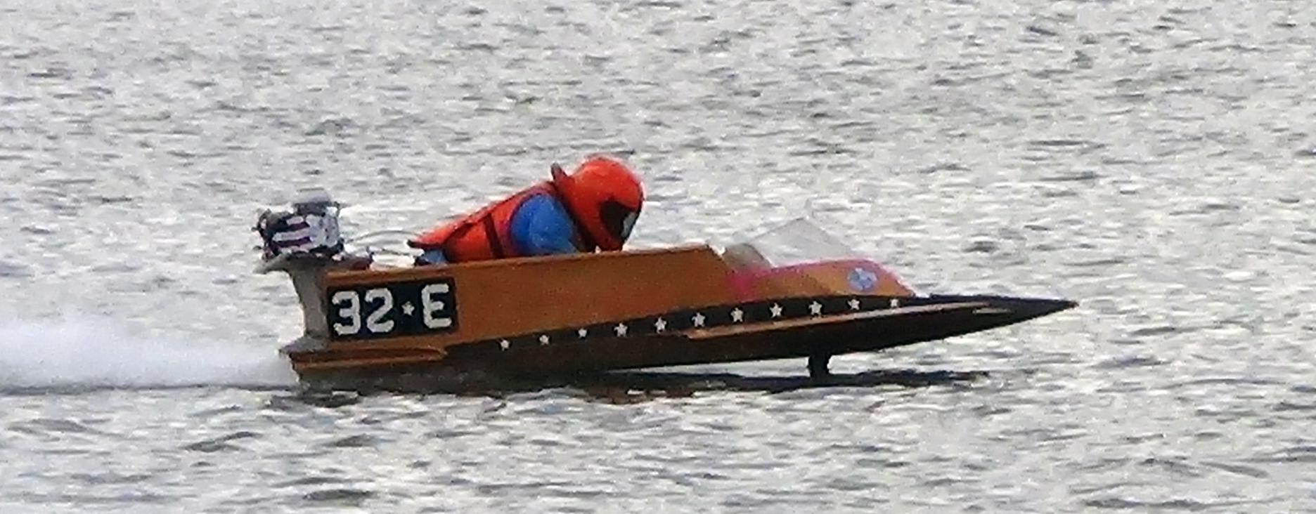 Vintage boat racing photo